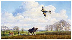 Battle of Britain Spitfire by Bill Perring